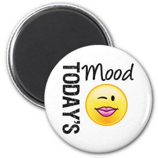 Today's Mood Emoticon Flirty 6 Cm Round Magnet