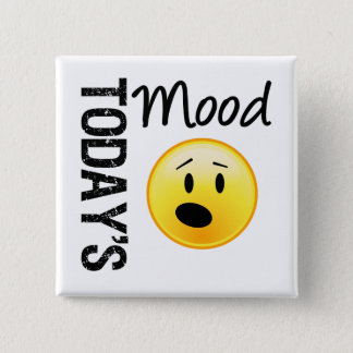 Today's Mood Emoticon OMG 15 Cm Square Badge