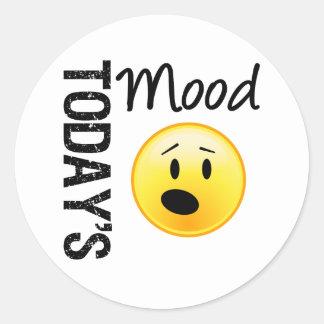Today's Mood Emoticon OMG Classic Round Sticker
