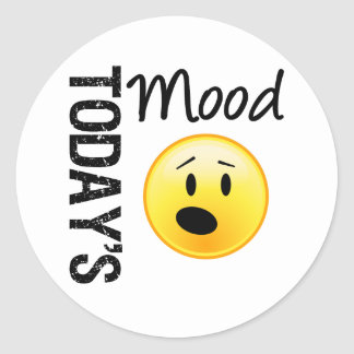 Today's Mood Emoticon OMG Round Sticker