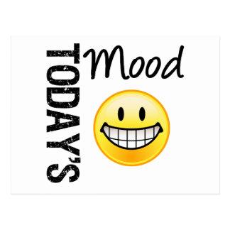 Today's Mood Very Happy Emoticon Postcard