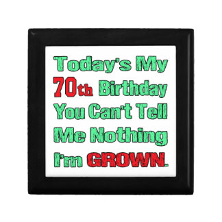 Today's my 70th birthday small square gift box