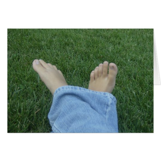 Today's Nourishment Card: Walk Barefoot Card