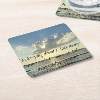 Today's Peace and Tomorrow's Troubles Square Paper Coaster