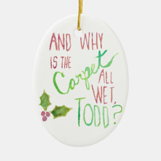 Todd and Margo Double-Sided Holiday Ornament