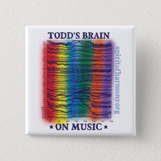 todd-brain 15 cm square badge