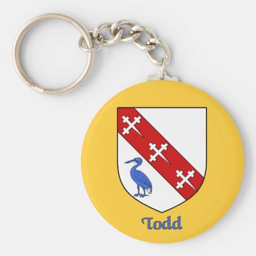 Todd Family Shield Keychain