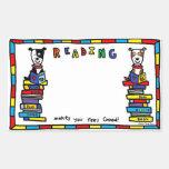 Todd Parr - Book Giving Day bookplate Rectangular Sticker