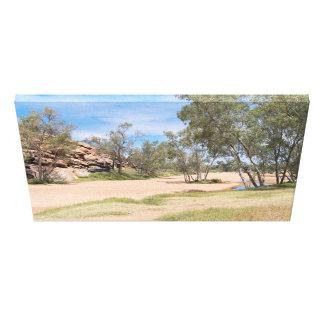 Todd River Basin Near Alice Springs Canvas Print