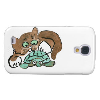 Todd the Brown Kitten Finds a Turtle Galaxy S4 Case