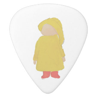 Toddie Time April Showers Rainy Day Toddler White Delrin Guitar Pick