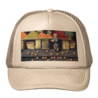 Toddler and Oranges Hat