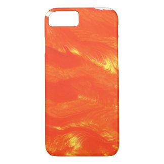 Toddler art vibrant orange iPhone case