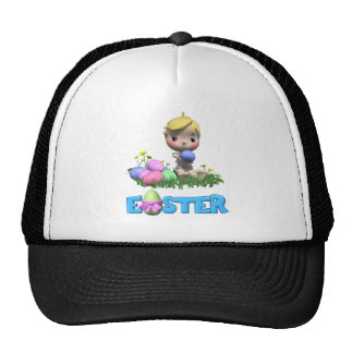 Toddler Celebrates His First Easter Mesh Hat