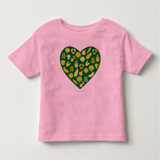Toddler designers t-shirt with bio heart