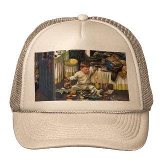 Toddler Empties Purses Hat