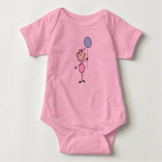 Toddler Girl Stick Figure Shirt