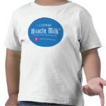 "Toddler ""I Drink Miracle Milk"" T-shirts"