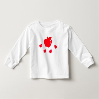 Toddler Long Sleeve T-Shirt with Apples
