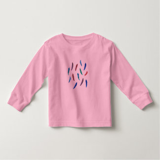 Toddler long sleeve T-shirt with feathers