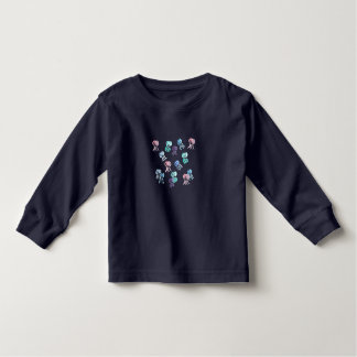 Toddler long sleeve T-shirt with jellyfishes