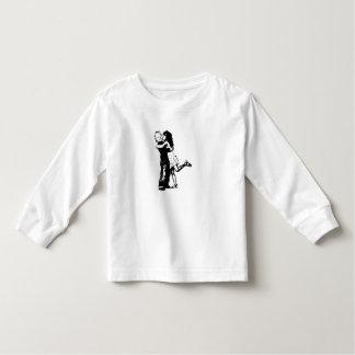 Toddler Long Sleeve, White - girl/kids design T-shirt