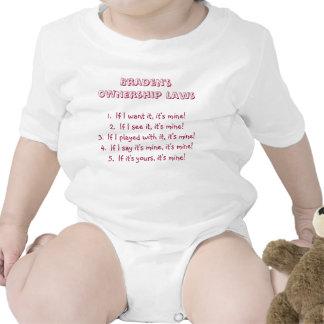 Toddler Ownership Laws Tee Shirts