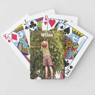 Toddler Picking Fruit Bicycle Playing Cards