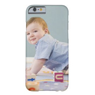 Toddler playing with blocks barely there iPhone 6 case