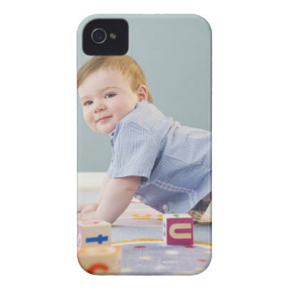 Toddler playing with blocks iPhone 4 Case-Mate case
