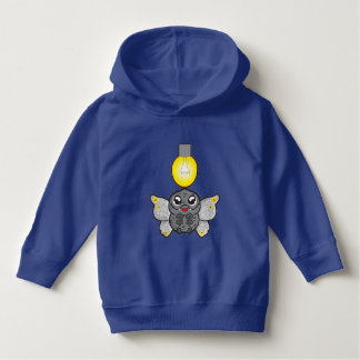 Toddler Pullover Hoodie, Royal Blue with moth