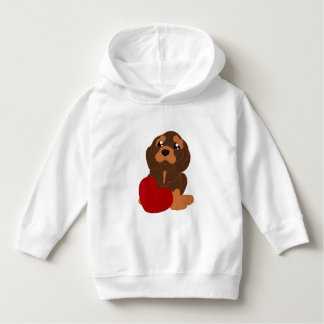 Toddler Pullover Hoodie with dog pattern