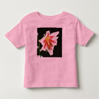 Toddler Ringer Girls Flower Shirt
