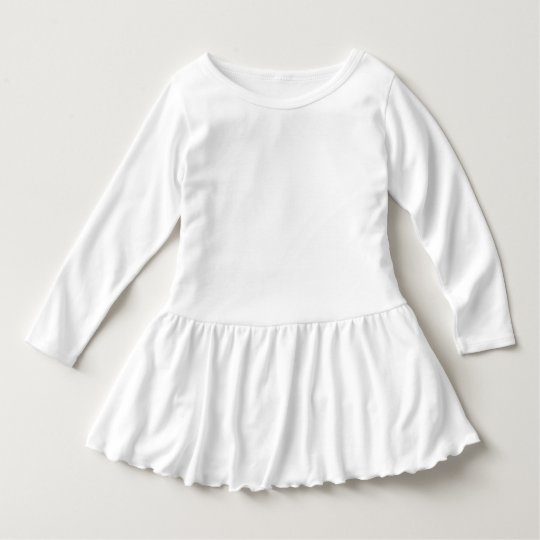 Ruffle Dress, White