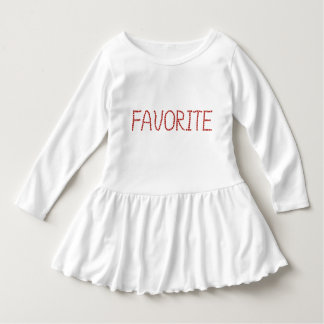 Toddler ruffle dress with 'favorite'