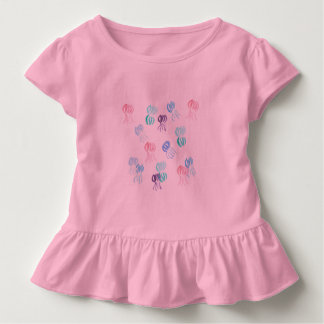 Toddler ruffle T-shirt with jellyfishes