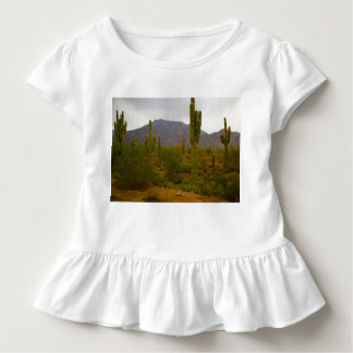 Toddler Ruffle Tee Bright Sahuaro Cacti