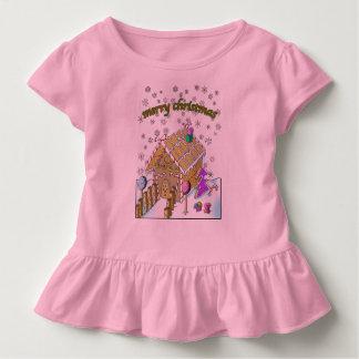 Toddler Ruffle Tee, Merry Christmas Toddler T-Shirt