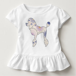 Toddler Ruffle Tee with vintage poodle