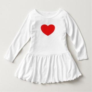 toddler ruffled dress size 4/5T heart image