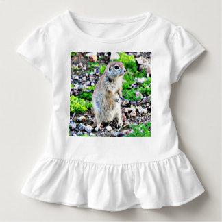 Toddler Ruffled Tee - Ground Squirrel