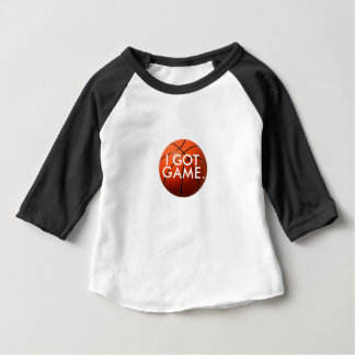 Toddler t-shirt with large basketball, I Got Game