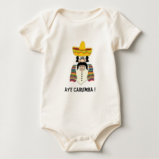Toddler Tee, Mexican, Aye Carumba ! Baby Bodysuit