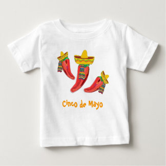 Toddler Tee Shirt. Chilli Peppers, Cinco de Mayo