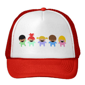 toddlers-303904 COLORFUL ADORABLE CARTOON toddlers Mesh Hat