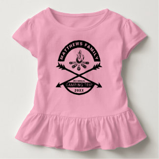 Toddlers Camping Trip Reunion Shirt | Dark Design