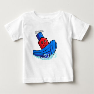 Toddlers Cartoon Toy Boat Tugg Tugboat Baby T-Shirt