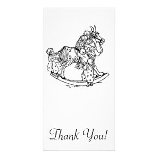 Toddlers on a Rocking Horse Picture Card