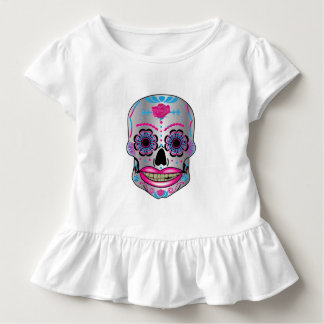 Toddlers Rose Candy Skull Ruffle Shirt