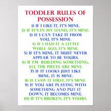 Kids Rules Posters U0026 Prints | Zazzle UK